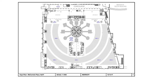 Marriott General Manager Conference – Space Layout and Drawing for Eddie Knasiak Design