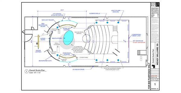 Fox, The Wendy Williams Show – Drawings for Mark Solan Design