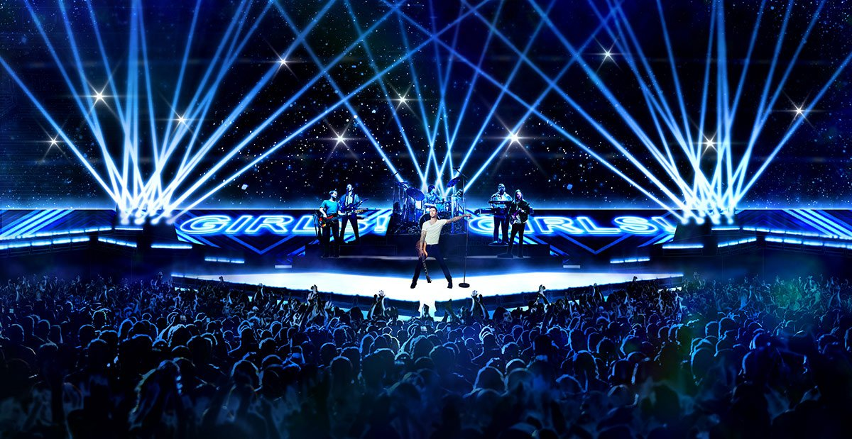 Superbowl Halftime Show – CONCEPT RENDERING FOR TRIBE INC.