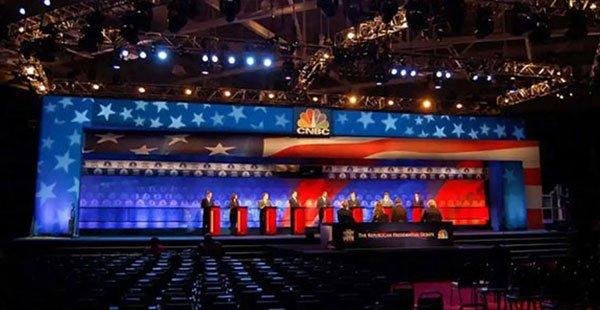 CNBC Presidential Debate – Graphic Design/Production Setup For Eddie Knasiak Design
