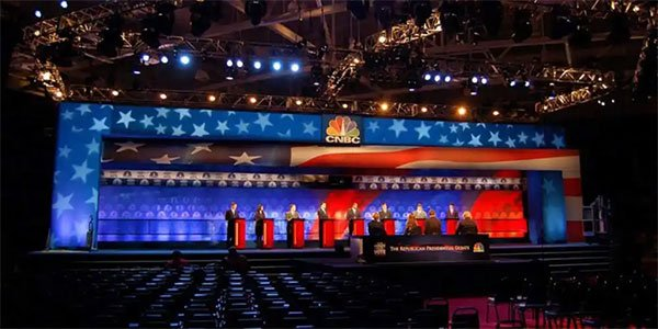 Presidential Debate Set Graphics – Graphic Design/Production Setup For Eddie Knasiak Design